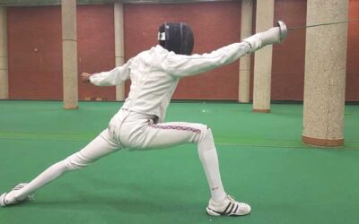 Fencers welcome equipment gift