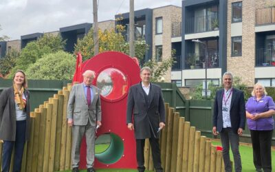 St George's Hospital opens a new-look children's garden with a donation from the Leus Family Foundation