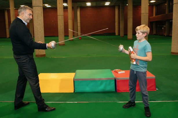 The former fencing champion Dmitry Leus sparring for young people's wellbeing